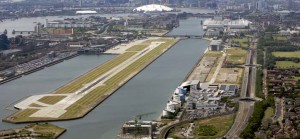 London city airport from above